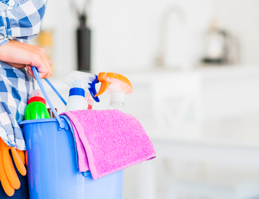 Qual a diferença entre empregada doméstica e diarista? Mulher com um balde na mão